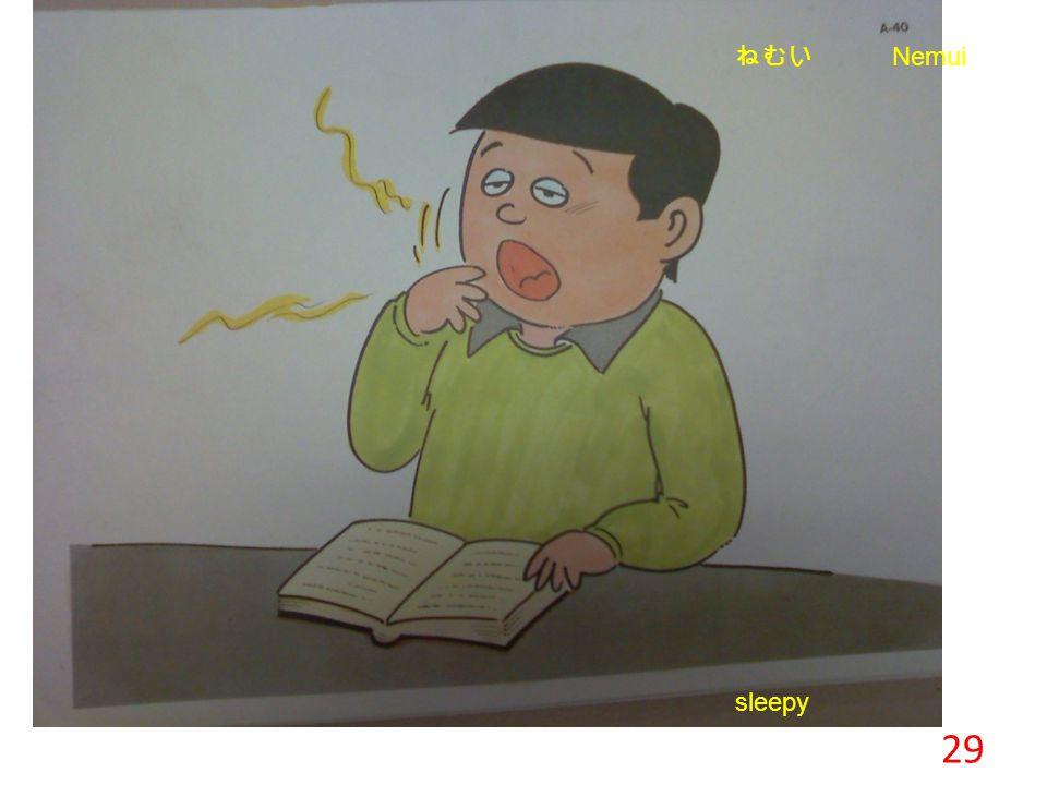 29 Warm cool sleepy ねむい Nemui
