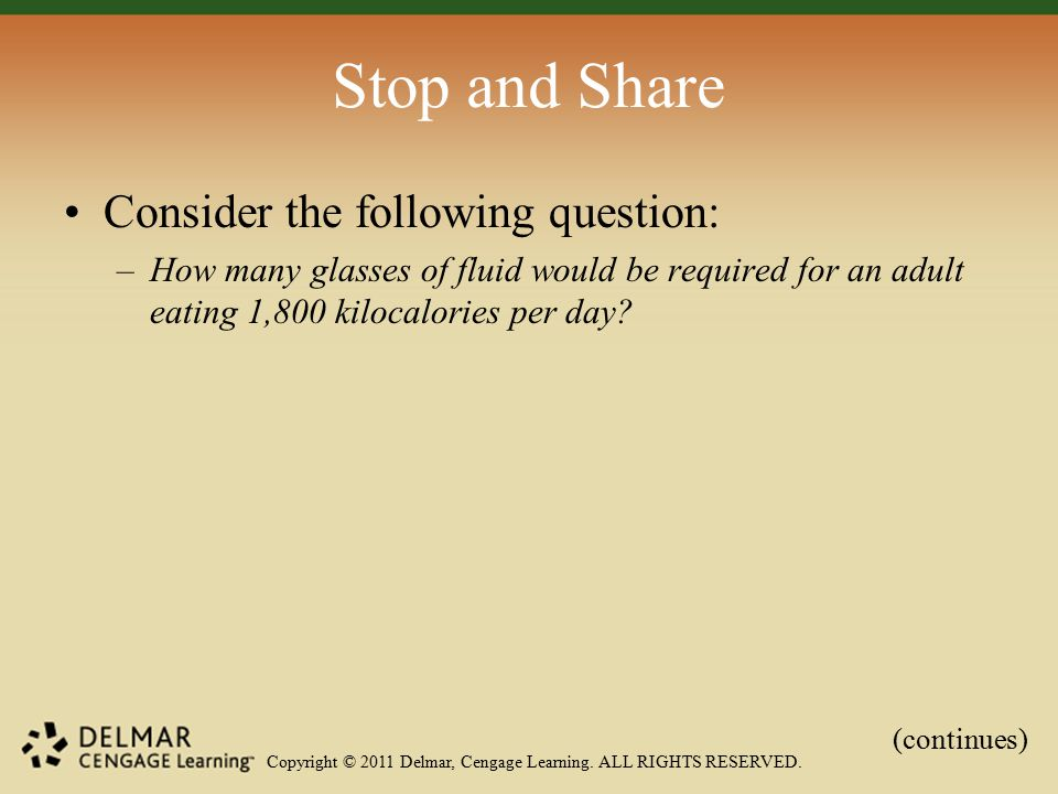 Copyright © 2011 Delmar, Cengage Learning. ALL RIGHTS RESERVED.
