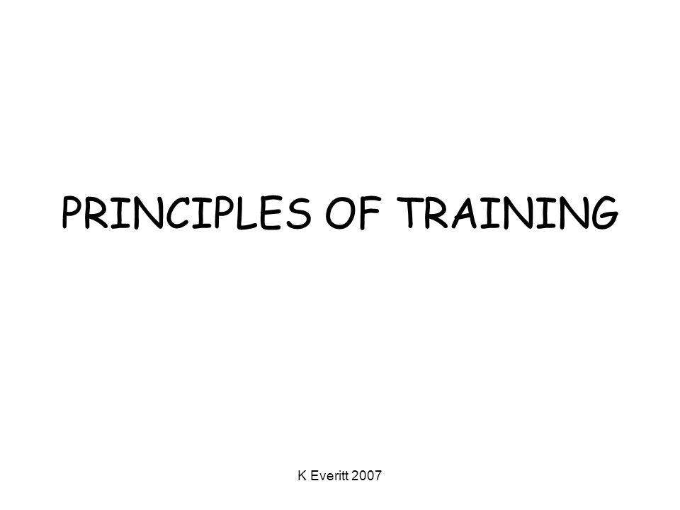 K Everitt 2007 PRINCIPLES OF TRAINING
