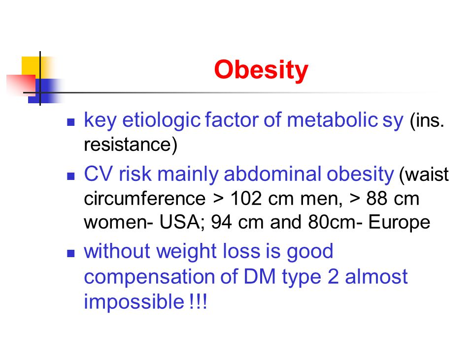 Obesity key etiologic factor of metabolic sy (ins.