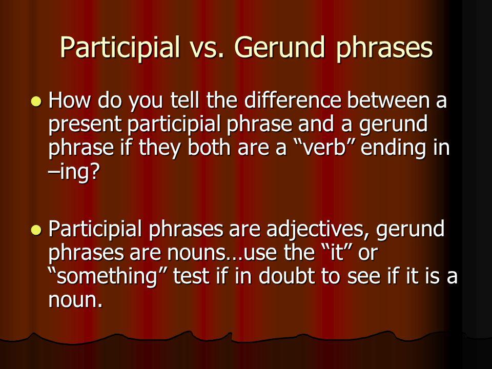 Participial vs.