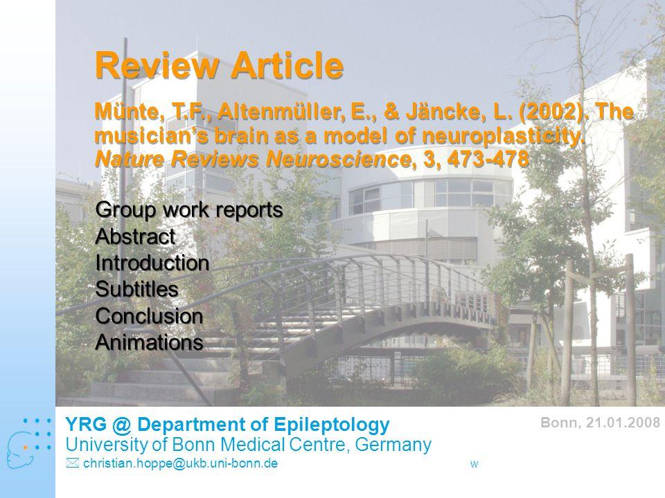 www.hochbegabung-und-gehirn.de Review Article Münte, T.F., Altenmüller, E., & Jäncke, L.