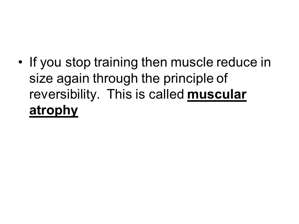 Using various training methods will allow you to effect how the muscle grows. It is important to know how different training can result in increased M