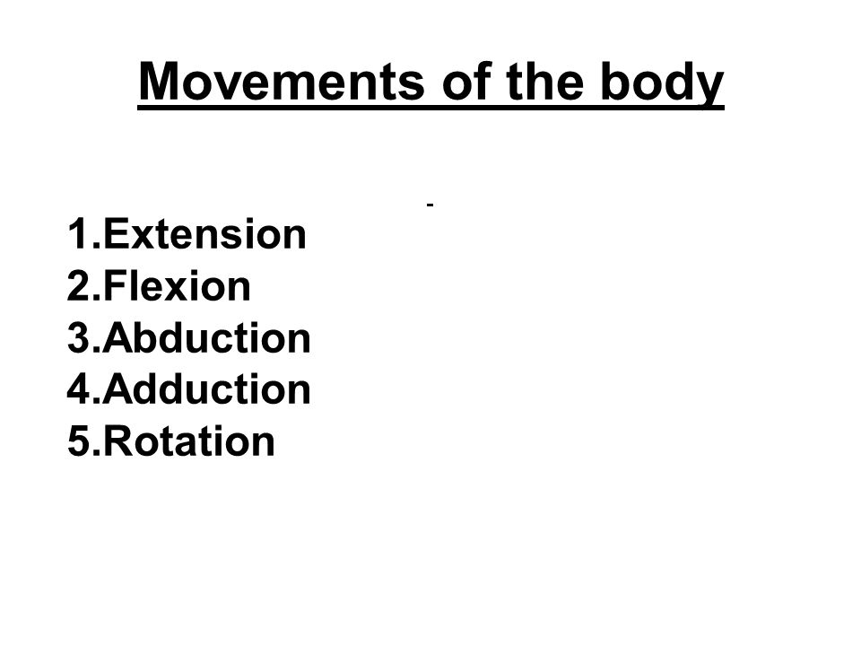 When the arm straightens the movement is called Extension.