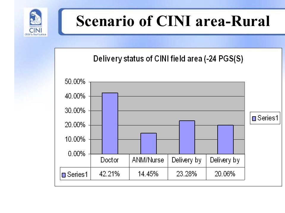 Scenario of CINI area-Rural.