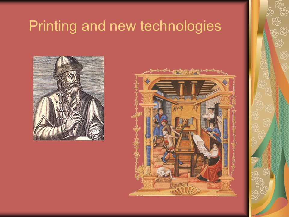 Printing and new technologies
