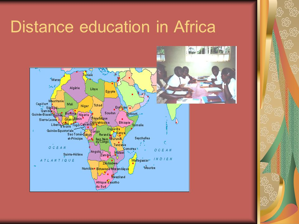Distance education in Africa