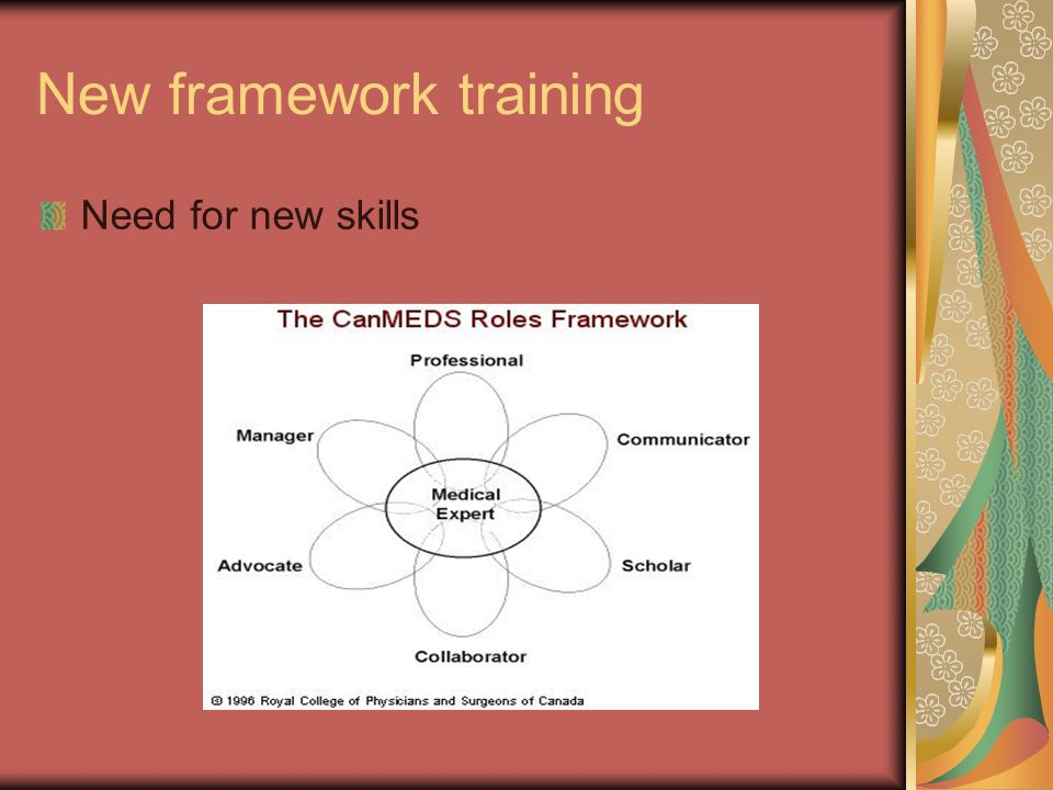 New framework training Need for new skills