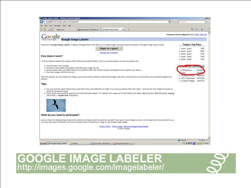 GOOGLE IMAGE LABELER http://images.google.com/imagelabeler/