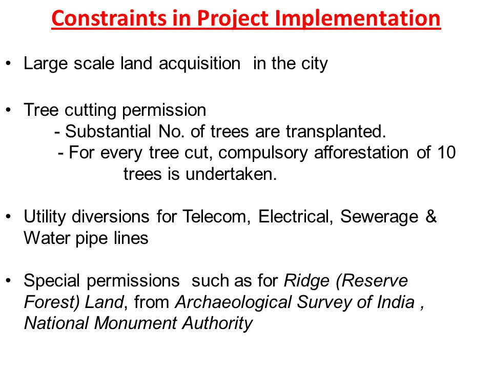 Large scale land acquisition in the city Tree cutting permission - Substantial No.