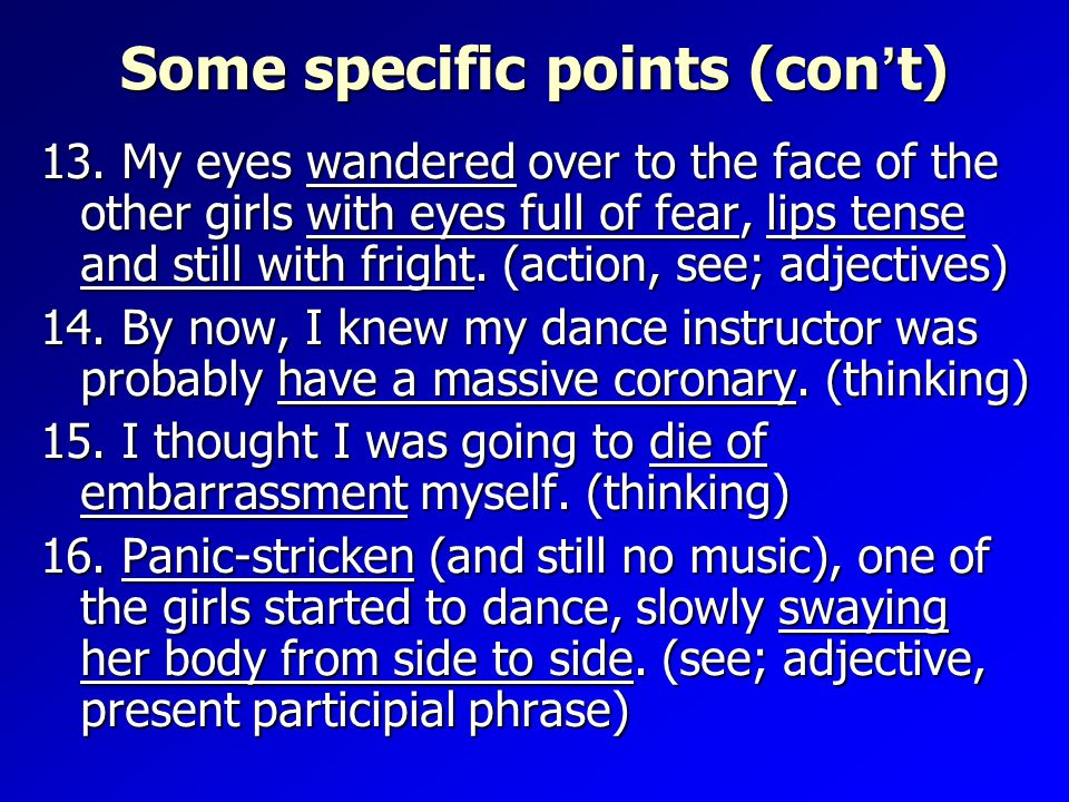 Some specific points (con ' t) 13.