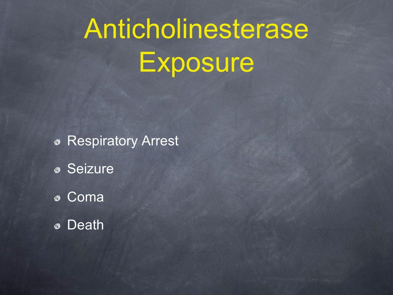 Anticholinesterase Exposure Respiratory Arrest Seizure Coma Death