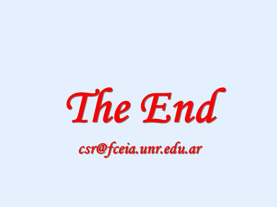 The End csr@fceia.unr.edu.ar The End csr@fceia.unr.edu.ar