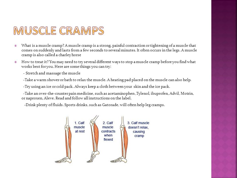  What is a muscle cramp.