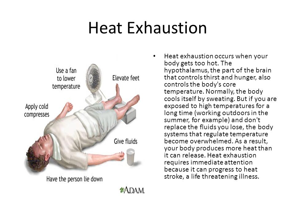 Heat cramps Heat cramps are painful, brief muscle cramps that occur during exercise or work in a hot environment.