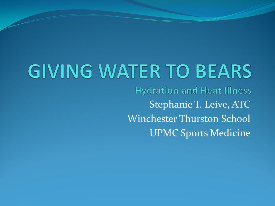 Stephanie T. Leive, ATC Winchester Thurston School UPMC Sports Medicine