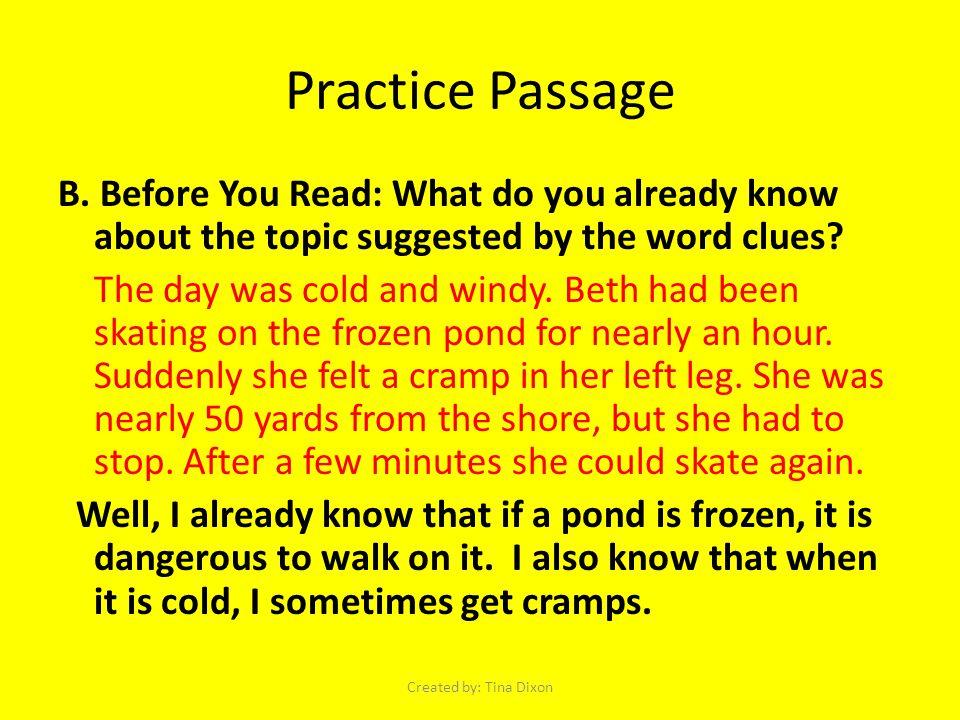 Practice Passage B.