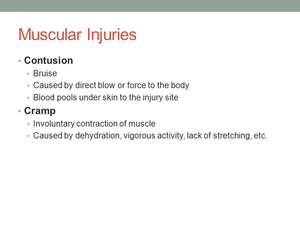 Soft Tissue Injury Blister