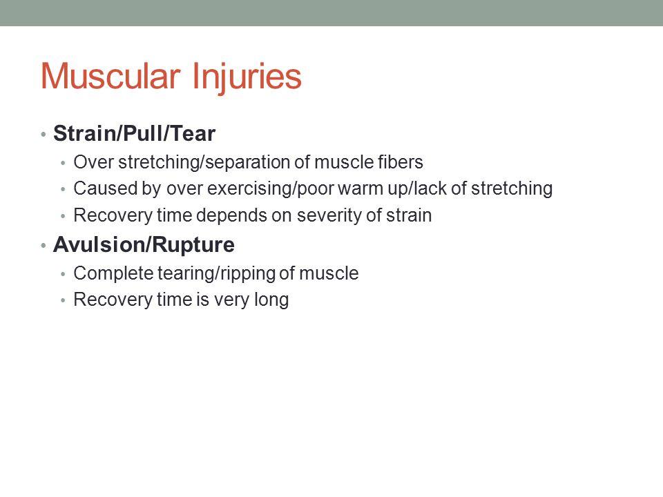 Muscle Strain/Pull/Tear