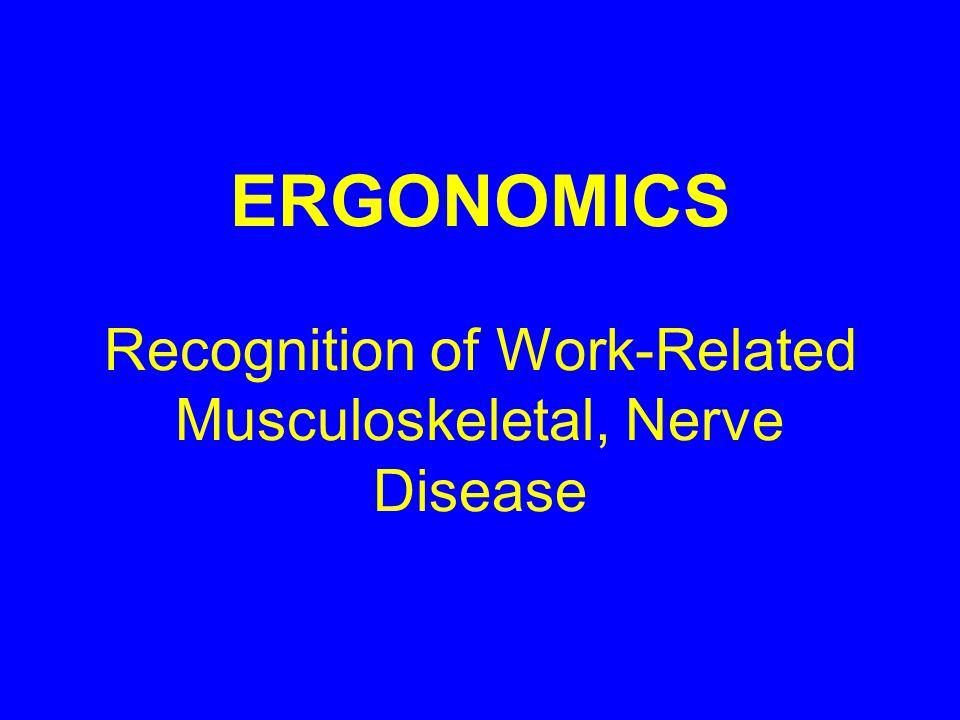 Ergonomic Risk Factors for Backs Awkward posture Sitting Static, bent postures Fatigue/aging Whole body vibration