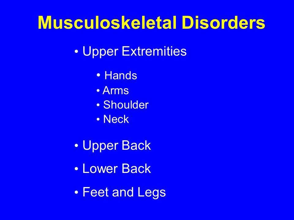 Lower Extremities Work- Related MSDs