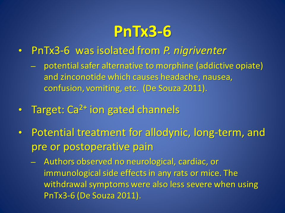 PnTx3-6 PnTx3-6 was isolated from P.nigriventer PnTx3-6 was isolated from P.