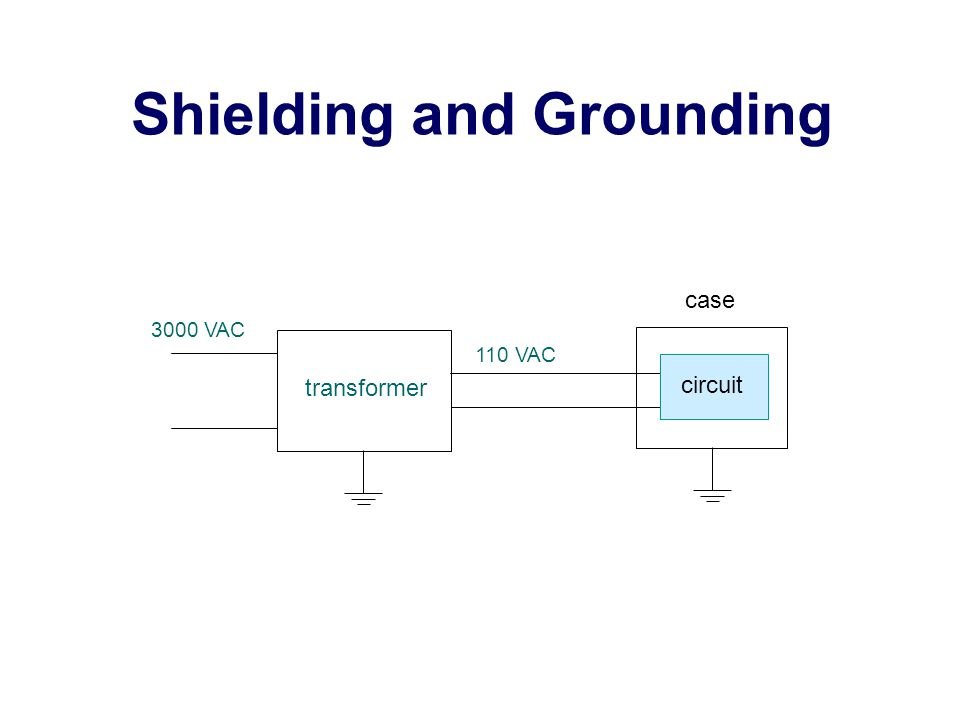 Shielding and Grounding transformer 3000 VAC circuit case 110 VAC