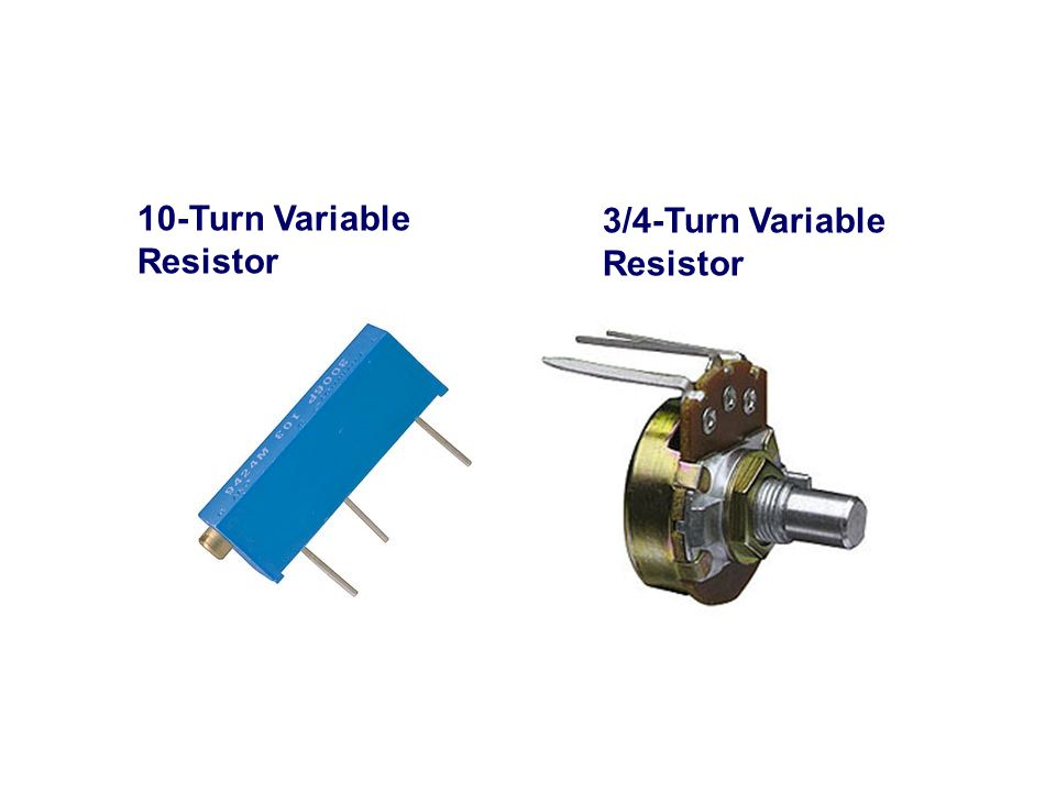 10-Turn Variable Resistor 3/4-Turn Variable Resistor