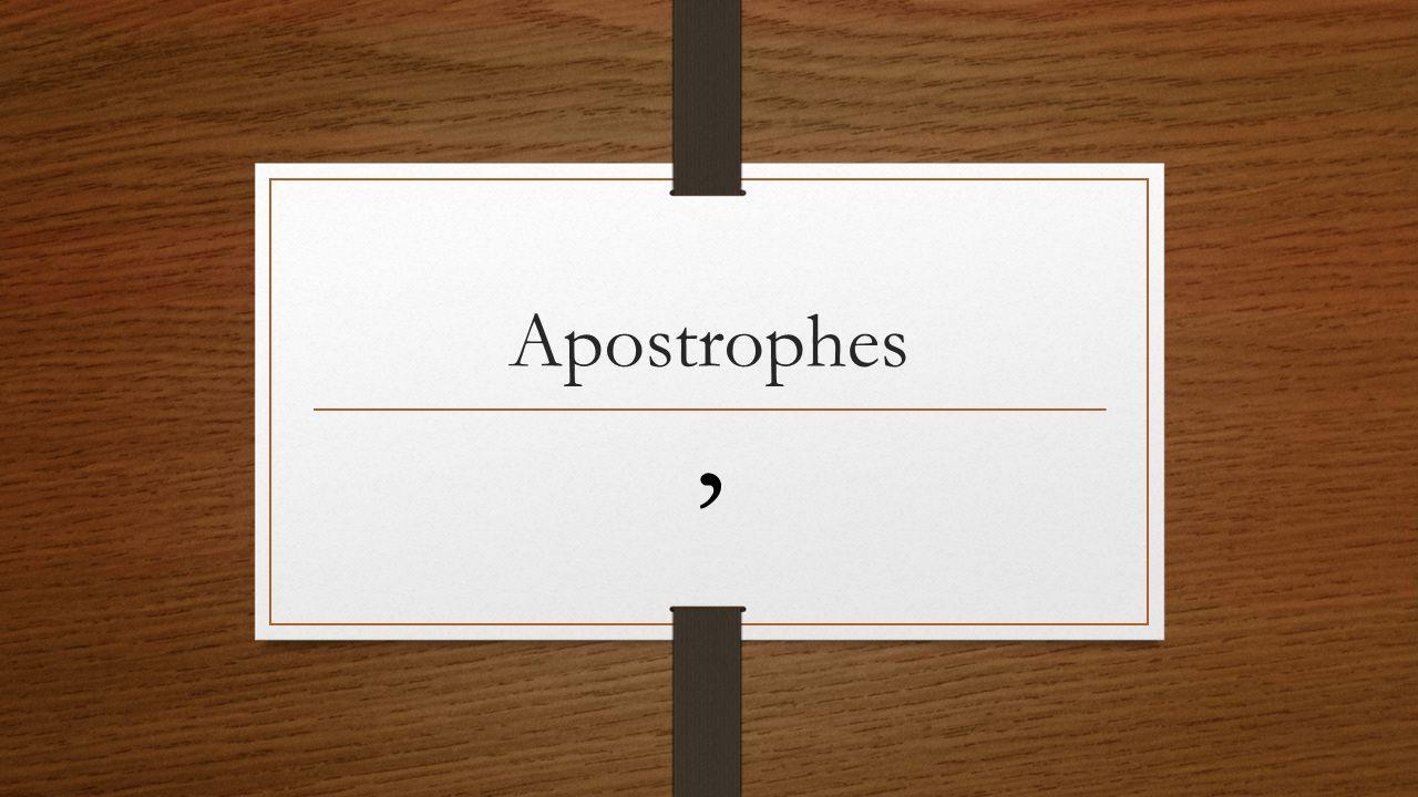 Apostrophes '