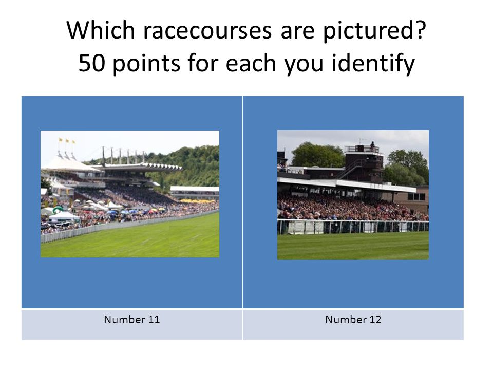 Round 7 How many of the following owners colours can you identify.