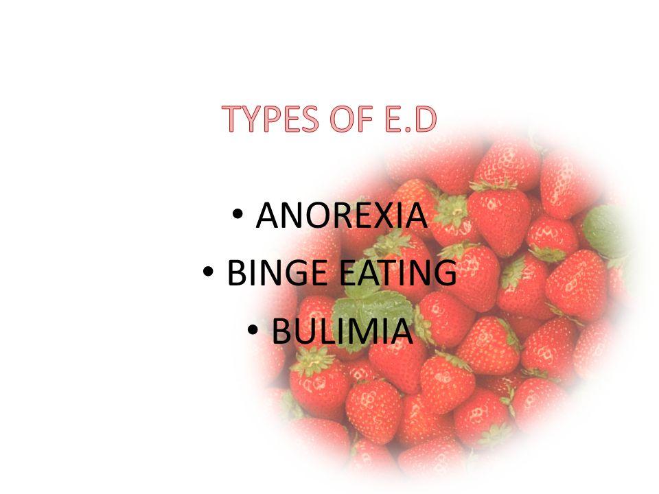 ANOREXIA BINGE EATING BULIMIA