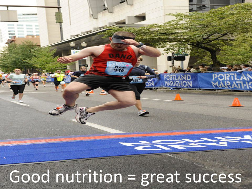 Good nutrition = great success