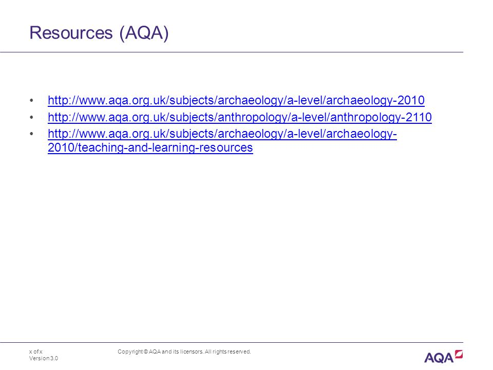 Resources (AQA) Copyright © AQA and its licensors.