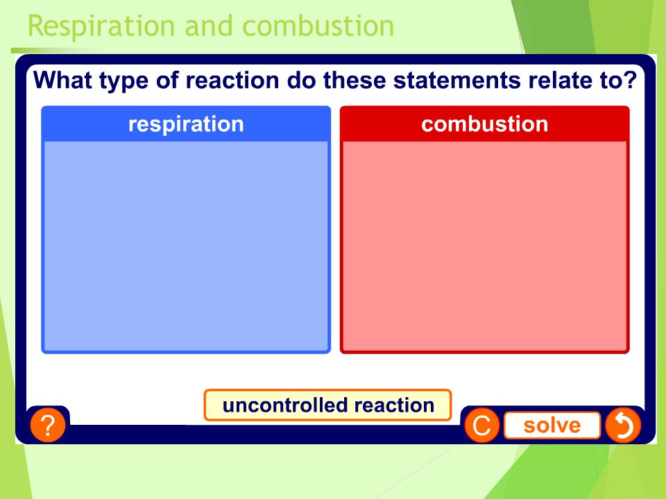 Respiration and combustion