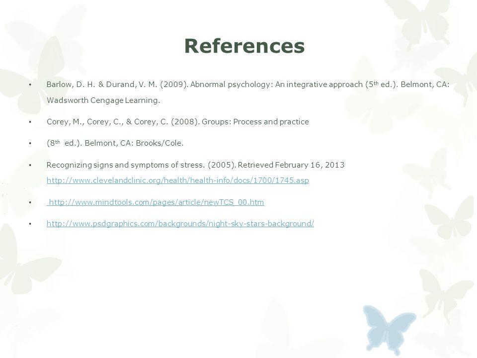 References Barlow, D. H. & Durand, V. M. (2009).