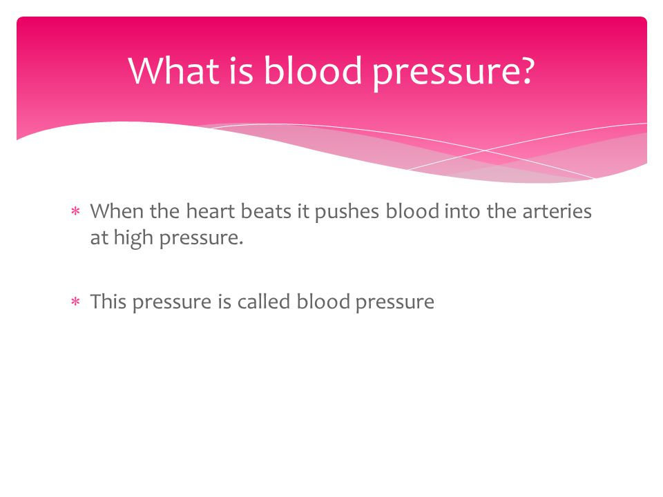 How can blood pressure be measured.