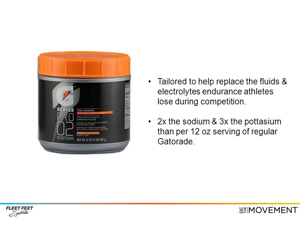 Tailored to help replace the fluids & electrolytes endurance athletes lose during competition.