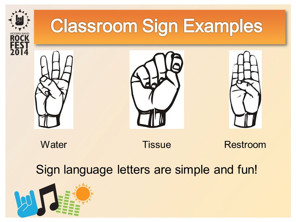 Sign language letters are simple and fun! TissueWaterRestroom