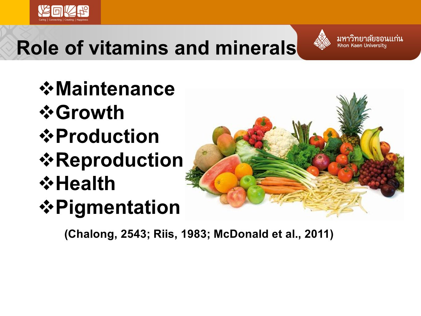 13 Vitamins B3 RoleDeficiencySource  Nutrient metabolism  FA and cholesterol synthesis  Control GI tract  Pellagra disease  GI tract  Skin  Chicken  Pork  beef