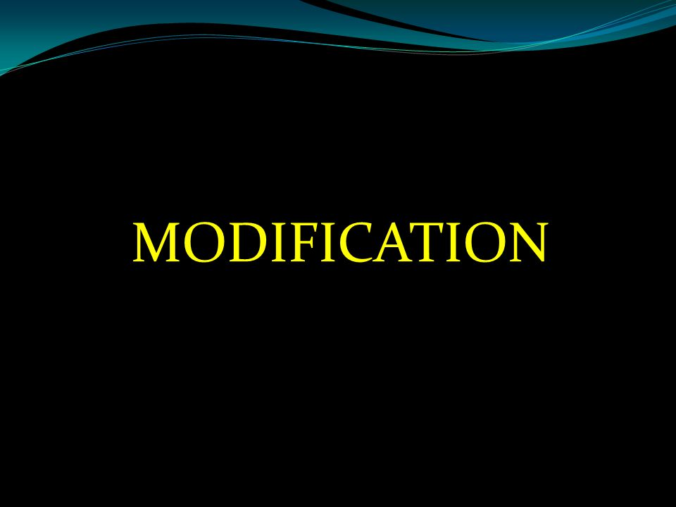 MODIFICATION