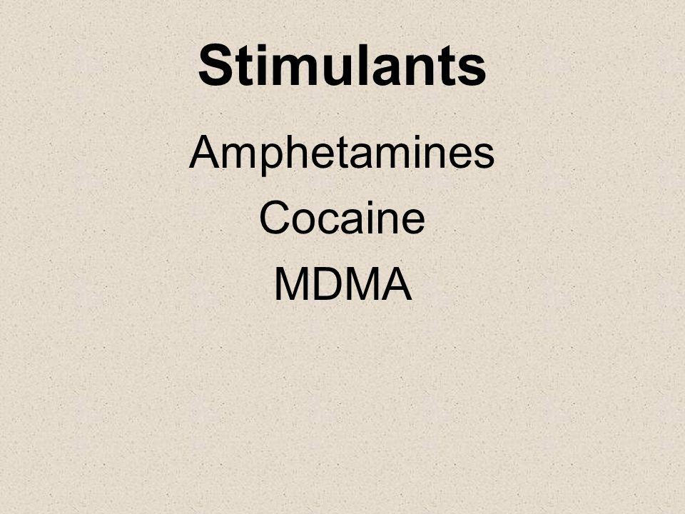 Stimulants Amphetamines Cocaine MDMA