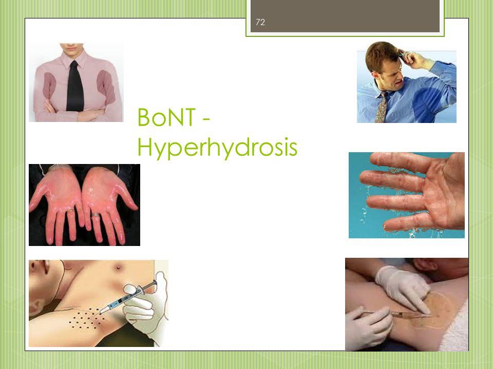 BoNT - Hyperhydrosis 72