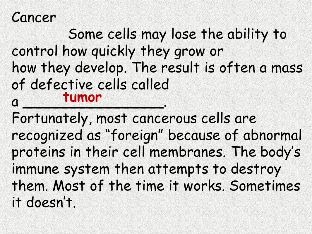 The Immune System When our other defenses don't work and we become invaded by pathogens or our cells stop working correctly, our immune system swings into action.