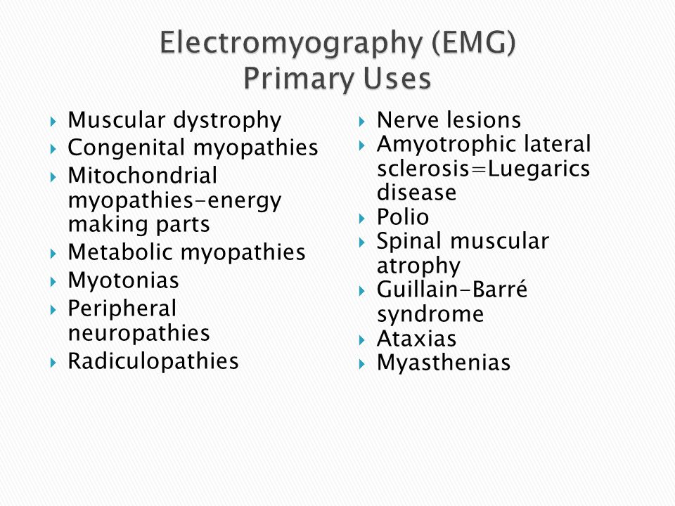  Muscular dystrophy  Congenital myopathies  Mitochondrial myopathies-energy making parts  Metabolic myopathies  Myotonias  Peripheral neuropathi