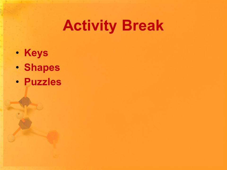 Activity Break Keys Shapes Puzzles