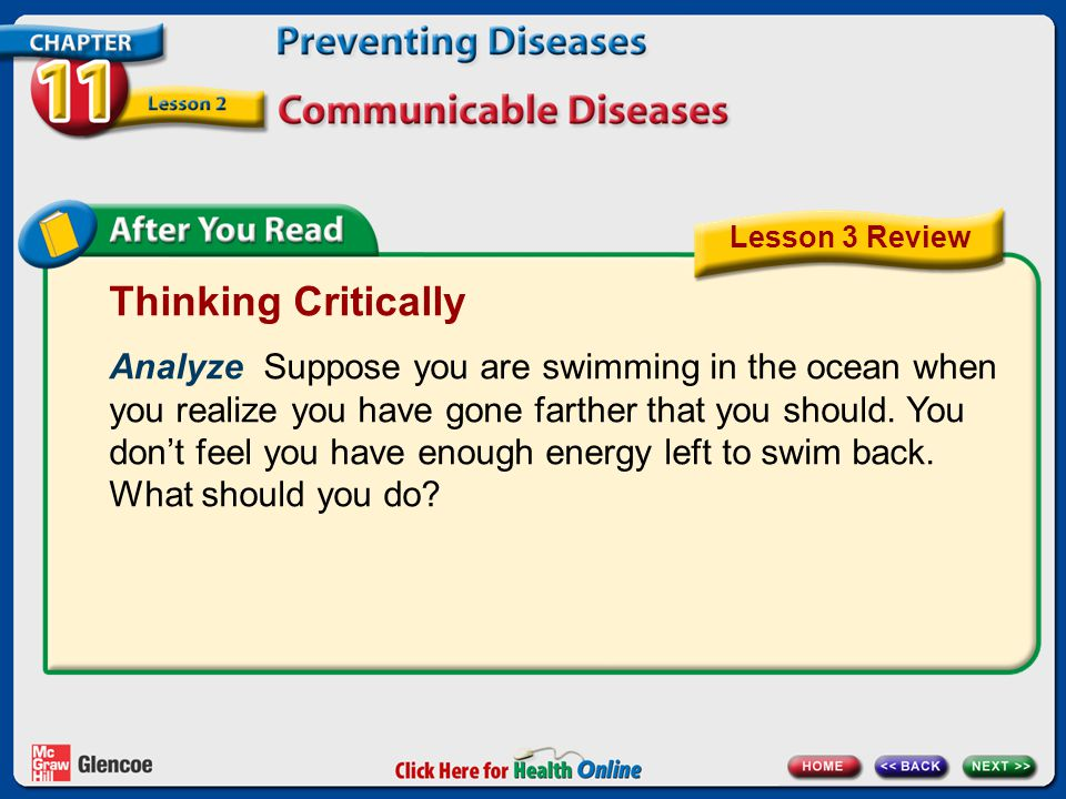 Thinking Critically Analyze Suppose you are swimming in the ocean when you realize you have gone farther that you should.