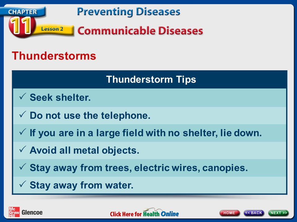Thunderstorms Thunderstorm Tips  Seek shelter. Do not use the telephone.