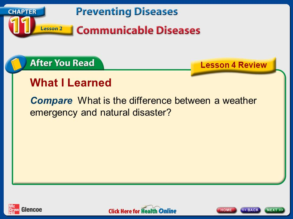 What I Learned Compare What is the difference between a weather emergency and natural disaster.