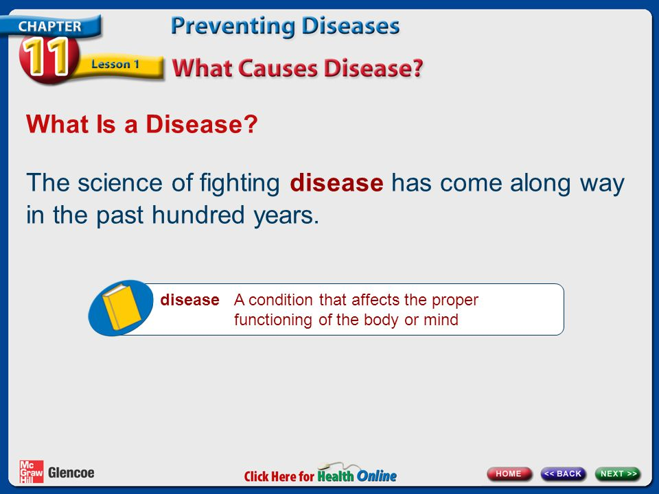 What Is a Disease.The science of fighting disease has come along way in the past hundred years.