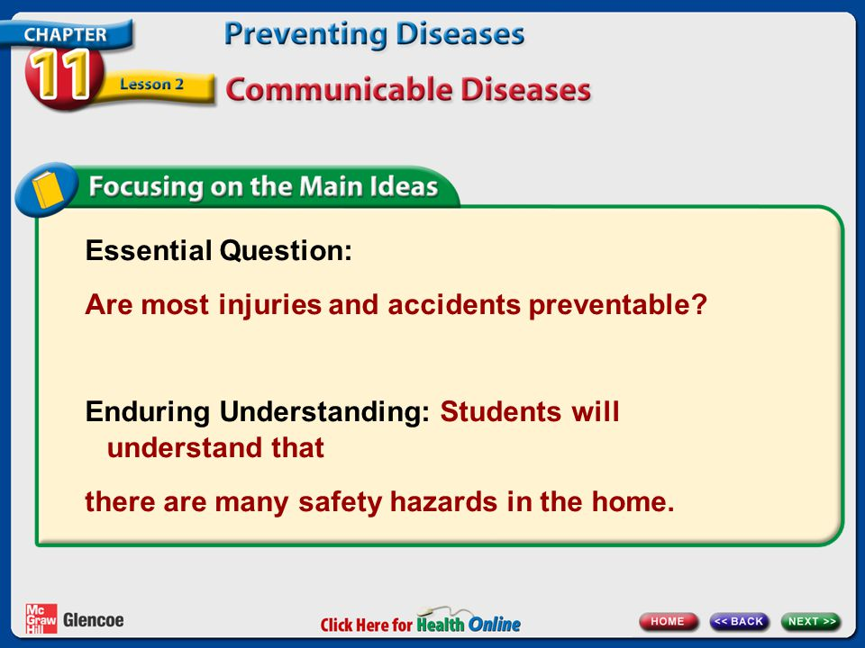 Essential Question: Are most injuries and accidents preventable.